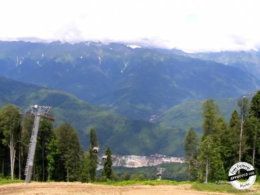 Горная карусель. Горы со смотровой площадки