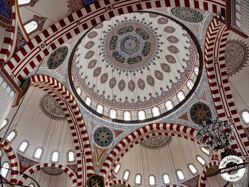 Мечеть Шехзаде Мехмед. Внутреннее украшение купола мечети Шехзаде Мехмет в Стамбуле