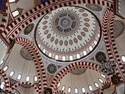 Внутреннее украшение купола мечети Шехзаде Мехмет в Стамбуле