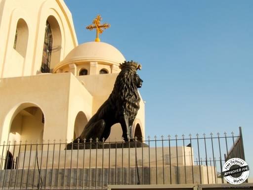 Коптская ортодоксальная церковь. Скульптурные композиции на  Коптской ортодоксальной церкви