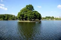 Остров на озере
