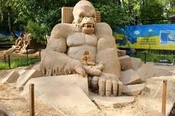 Песчаные скульптуры в ПКиО Сокольники