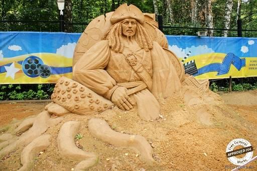 Песчаные скульптуры в ПКиО Сокольники.