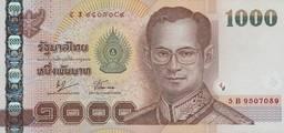 Банкнота достоинством 1000 бат