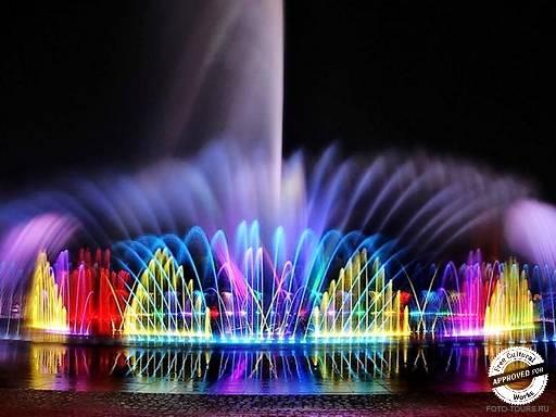 Парк Голливуд. Танцующий фонтан