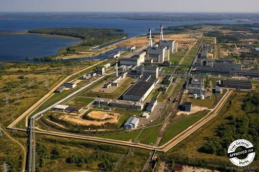 Игналинская АЭС. Вид сверху