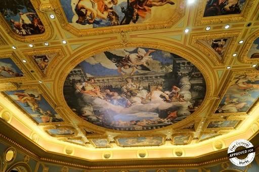 The Venetian Macao. Фрагмент оформления потолка в The Venetian Macao