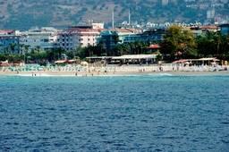 Пляж Клеопатры со стороны моря