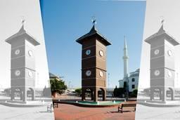 Башня с часами в разных странах мира  в парке «konakli belediyesi»