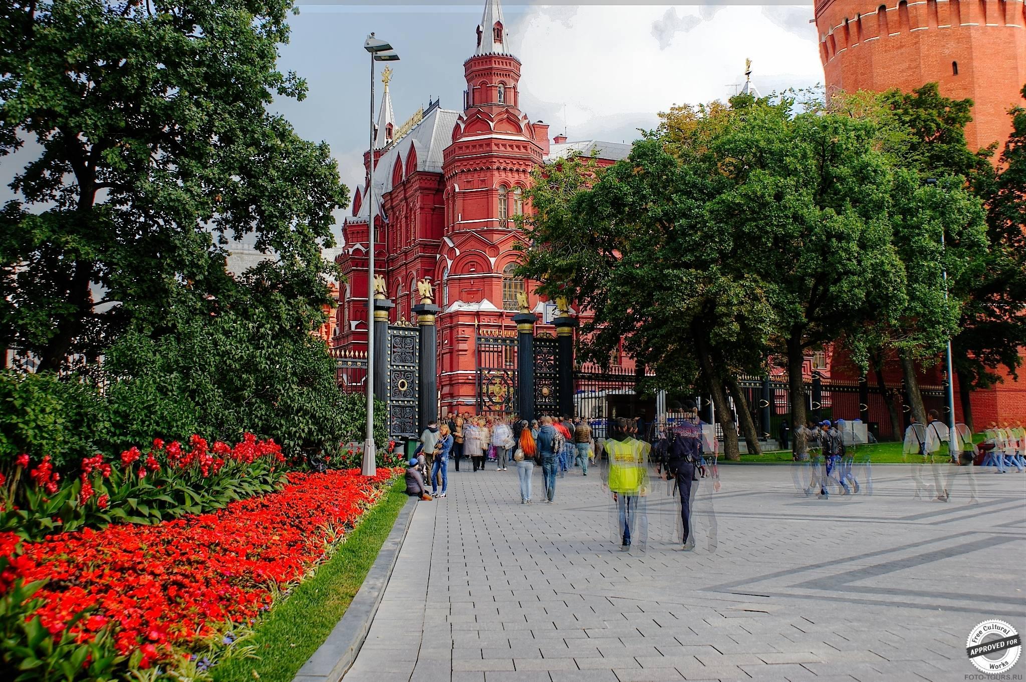 Александровский сад в Александровском Саде, Москва, Россия.
