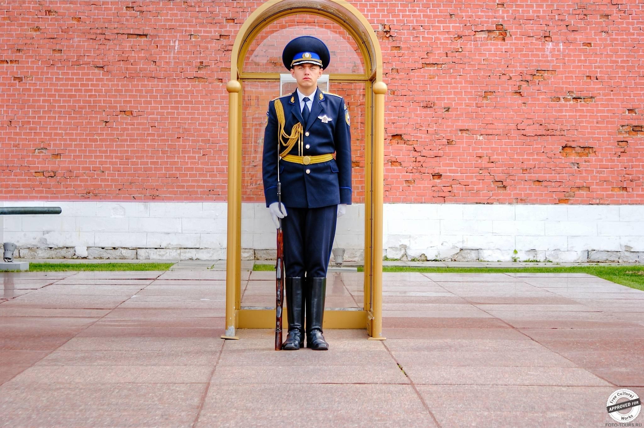 Могила Неизвестного Солдата в Александровском Саде, Москва, Россия.
