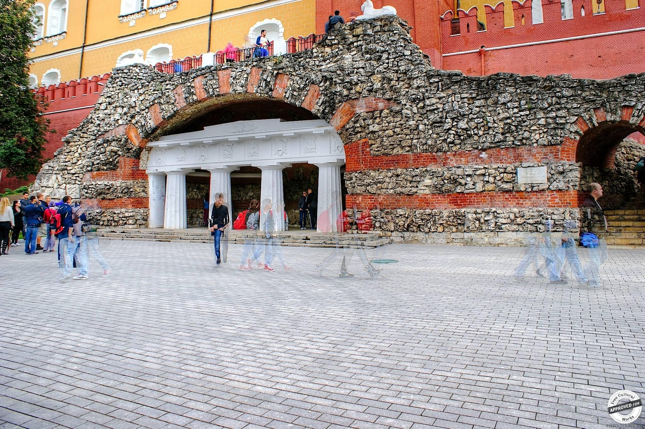 Итальянский грот в Александровском Саде, Москва, Россия.