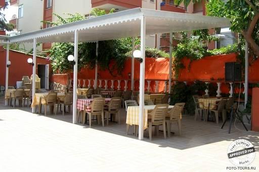 Solis Beach Hotel. Столики около бассейна