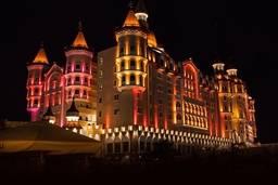 Ночная подсветка отеля «БОГАТЫРЬ»