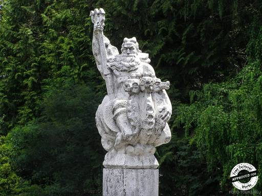 ДЕНДРАРИЙ. Скульптура Нептуна