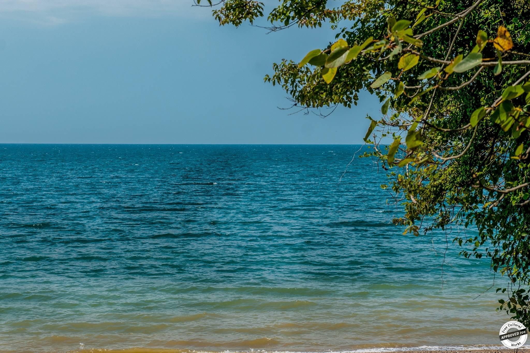 Черное море у берегов Абхазии, Абхазия, Азия.