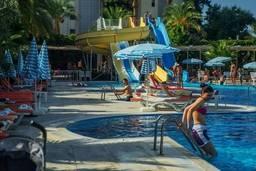 Водные горки отеля Hedef Resort & Spa