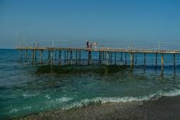 Пирс частного пляжа отеля Hedef Resort & Spa