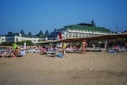 Частный пляж отеля Hedef Resort & Spa