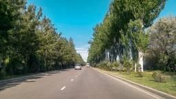Дорога в международный аэропорт Манас