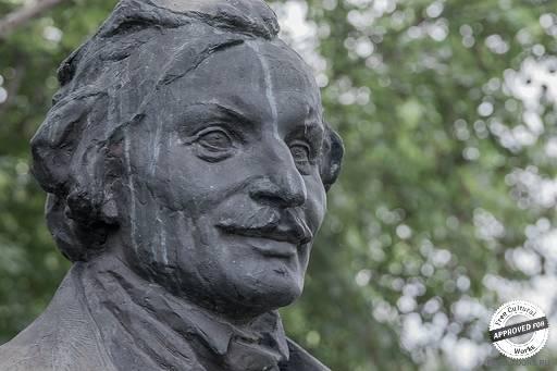 Портрет Гоголя, Виленский З.М. 1937-1950, бронза.