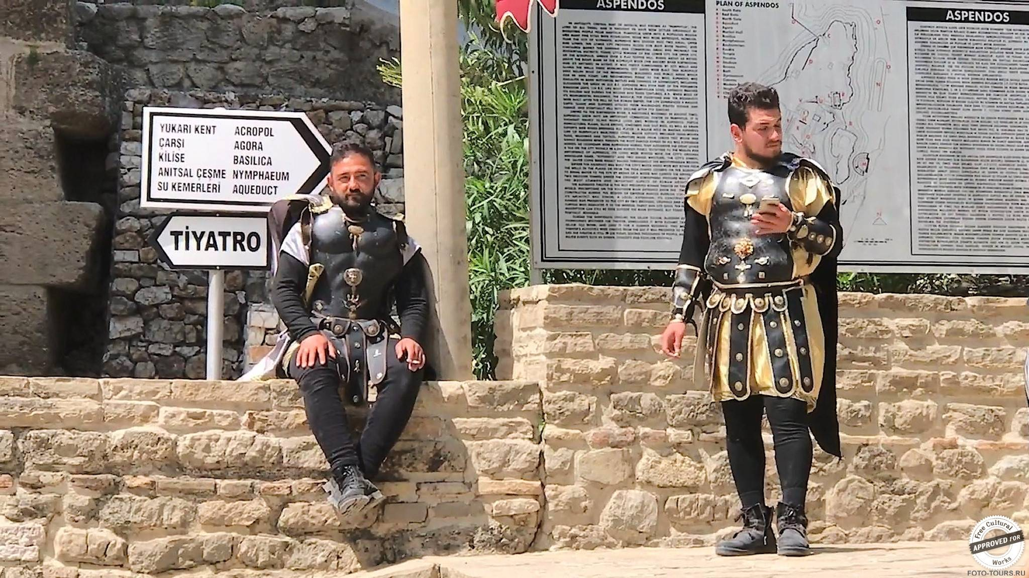 Аспендос в Анталии, Турция, Азия.