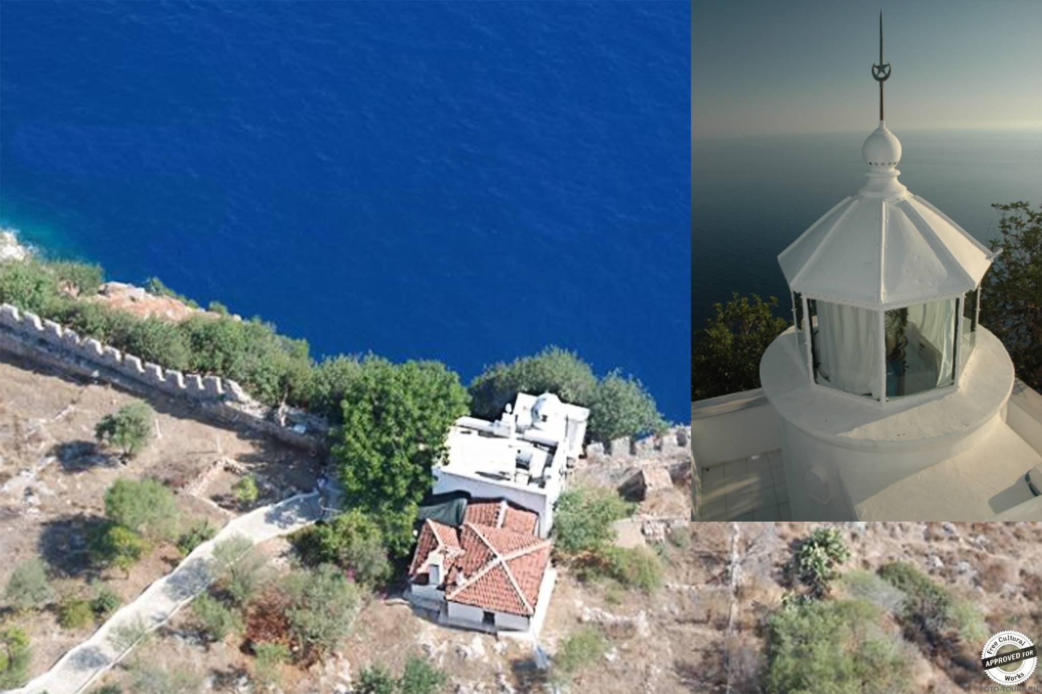 Старый маяк в Аланье, Турция, Азия.