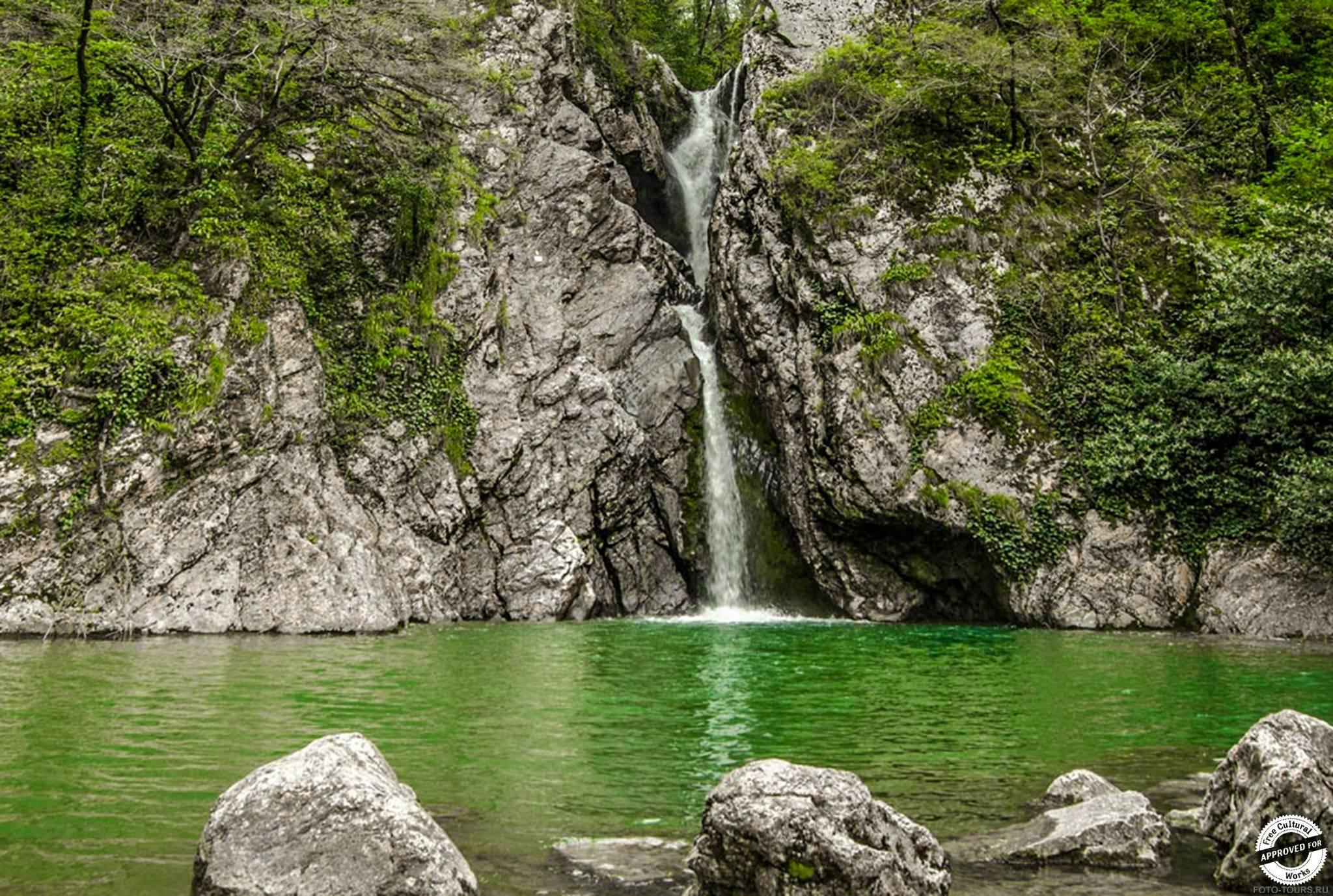 Агурские водопады в Хосте, Сочи, Россия.